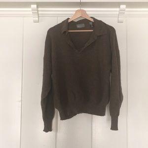 Other - Brown Oversized Italian Merino Wool Sweater